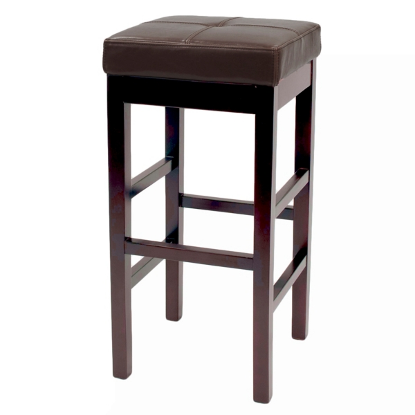 brown valencia backless leather counter stool - Leather Counter Stools