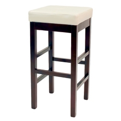 Beige Valencia Backless Leather Bar Stool