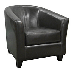 Hayden Espresso Bonded Leather Tub Chair