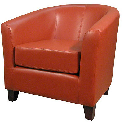 Hayden Orange Bonded Leather Tub Chair