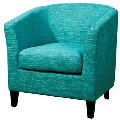 Blue Sheri Fabric Tub Chair