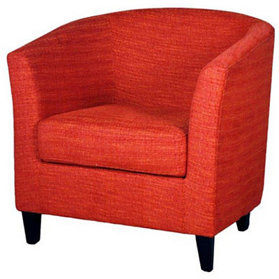 Red Sheri Fabric Tub Chair