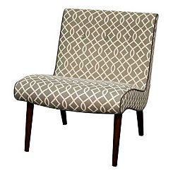 Alexis Weaving Gray Accent Chair