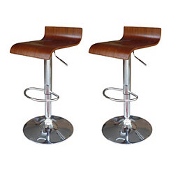 Moda Wooden Bar Stools, Set of 2