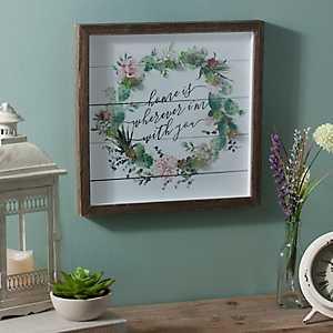 Home Succulent Wreath Shadowbox