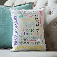 Easter Typography Pillow