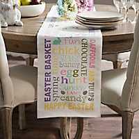 Easter Words Table Runner