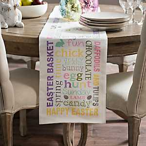 Easter Words Table Runner