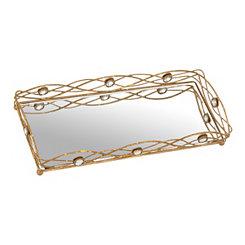 Gold Gemmed Vanity Tray