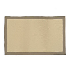 Gray Bordered Jute Diamond Area Rug, 5x7