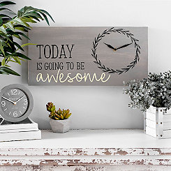 Today Is Awesome Gray Clock