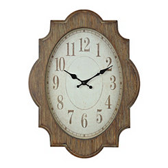 Ornate Distressed Wood Clock
