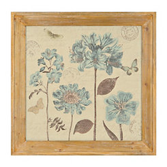 Blue Botanical Framed Art Print