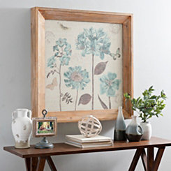 Blue Botanical Framed Art Print