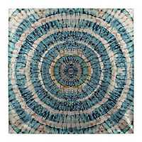 Blue Swirl Studs Canvas Art Print
