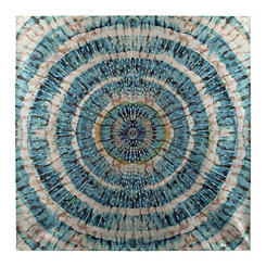 Blue Swirl Studs Canvas Art Print