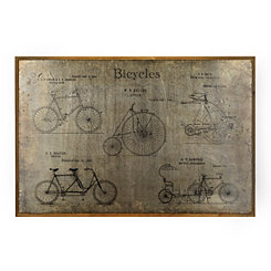 Aluminum Bicycles Framed Art Print