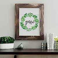 Grateful Wreath Framed Art Print