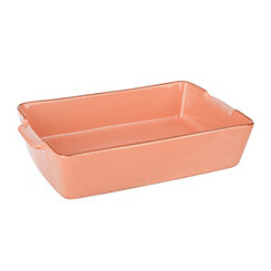 Peach Terracotta Baking Dish, 2 qts.