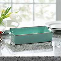 Turquoise Terracotta Baking Dish, 2 qts.
