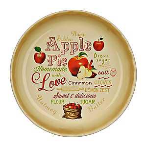 Apple Pie Typography Pie Plate