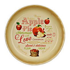 Apple Pie Typography Pie Plate