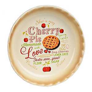 Cherry Pie Typography Pie Plate