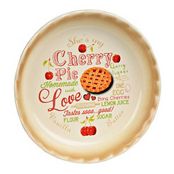 Cherry Pie Typography Pie Plate