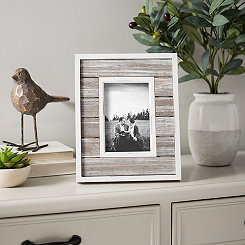 Gray Planks Picture Frame, 4x6