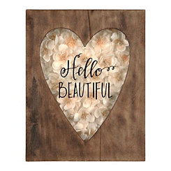 Hello Beautiful Heart Shadowbox