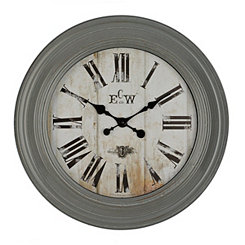 Conley Gray Wall Clock