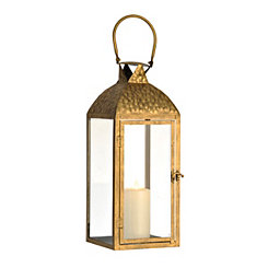 Hammered Gold Lantern