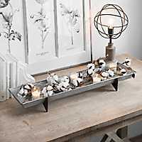 Long Galvanized Metal Decorative Tray