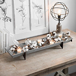 Long Galvanized Metal Decorative Tray