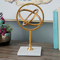 Gold and Marble Open Orb Finial