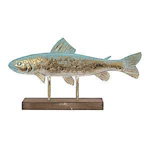 Gold Metallic Fish Finial