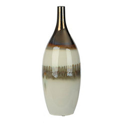 White and Gold Slate Ceramic Vase
