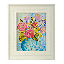 Whimsical Florals II Framed Art Print