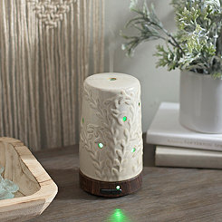 Tan Flourish Ultrasonic Essential Oil Diffuser