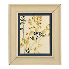 Indigo Buds Framed Art Print