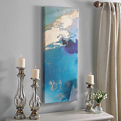 Turquoise Abstract II Canvas Art Print