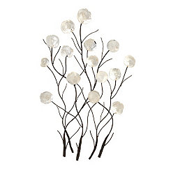 Metal Peony Shell Wall Plaque