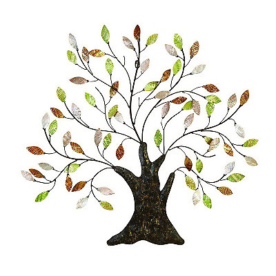 Capiz Metal Tree Wall Plaque