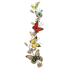 Metal Trailing Butterflies Wall Plaque