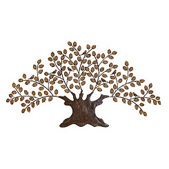 Bronzing Leaves Metal Tree Wall Plaque