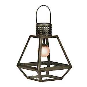 Geometric Metal Solar Lantern