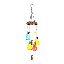 Solar Glass Blub Wind Chime