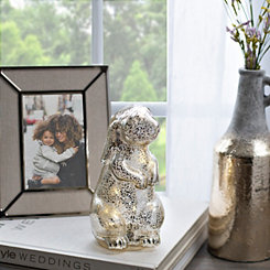 Pre-Lit Silver Easter Bunny Statue
