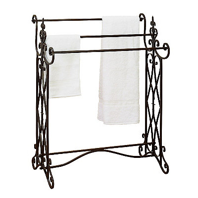 Scrolled Finial Towel Rack