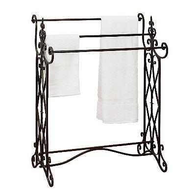 Scrolled Finial Towel Rack